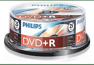 Bobina DVD+R - Philips DVD+R DR4S6B25F/00, 25 unidades, 4.7GB, 16x