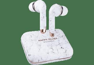 HAPPY PLUGS Air 1 Plus, In-ear Kopfhörer Bluetooth Weiß Marble