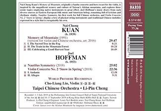 Lin,Cho-Liang/Cheng,Li-Pin/Taipei Chinese Orch. - NAI-CHUNG KUAN : MEMORY OF MOUNTAIN - JOEL HOFFMAN  - (CD)