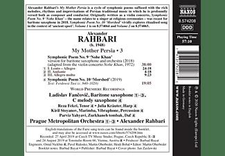 Fancovic/Fekri/Rahbari/Prague Metropolitan Orch. - MY MOTHER PERSIA  - (CD)