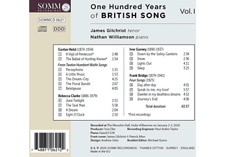 Gilchrist,James/Williamson,Nathan - One Hundred Years of British Song Vol.1  - (CD)