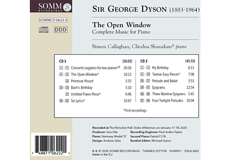 Callaghan,Simon/Shanahan,Cliodna - The Open Window,Complete Music for Piano  - (CD)