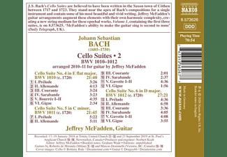 Jeffrey Mcfadden - CELLO SUITES, VOL. 2 NOS. 4-6, BWV 1010-1012  - (CD)