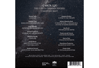Christian/the Zurich Chamber Singers Erny - O NATA LUX  - (CD)
