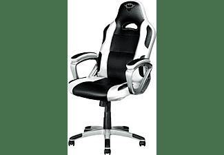 TRUST GXT 705W Ryon Gaming Stuhl, Weiß/Schwarz
