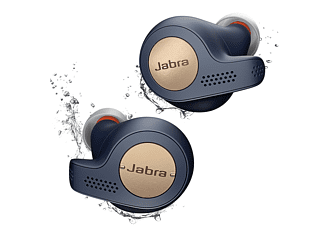 Auriculares inalámbricos - Jabra Elite Active 65t, True Wireless, Bluetooth, 15 horas, Control por Voz, Azul