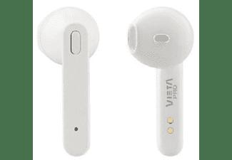Auriculares inalámbricos - Vieta MK007, True Wireless, Micrófono, Autonomía 12 horas, Bluetooth 5.0, Blanco
