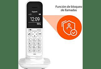 Teléfono - Gigaset CL390, Inalámbrico, Pantalla iluminada, Manos libres, 150 contactos, Blanco