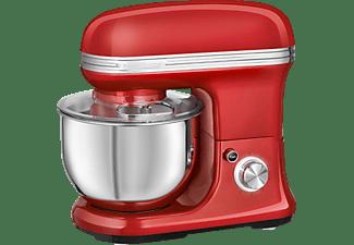 PROFI COOK PC-KM 1197 Küchenmaschinen Rot/ Edelstahl (Rührschüsselkapazität: 5 Liter, 1200 Watt)