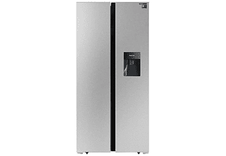 Frigorífico americano - Infiniton SBS-442IXD, 432 l, No Frost, Dispensador de agua, 42 db, Inox