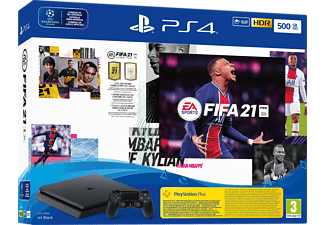 PlayStation 4 Slim 500Go - FIFA 21 Bundle - Console de jeu - Noir