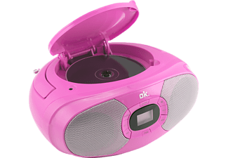 OK. ORC 131-PK STEREO CD Player, Pink