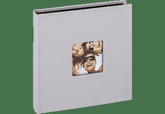 WALTHER Designalbum Fun Fotoalbum, 30 Seiten, Strukturpapier, Hellgrau