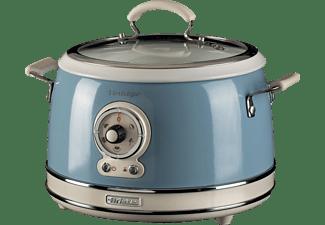 ARIETE 2904BL Vintage Multifunktionskocher (650 Watt, Blau)