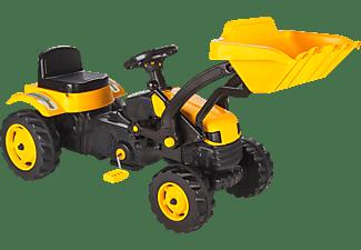JAMARA Trettraktor Frontlader Bull Spielzeugtrettraktor Gelb