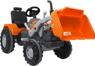 JAMARA Trettraktor Frontlader Power Drag Kinderfahrzeug Orange