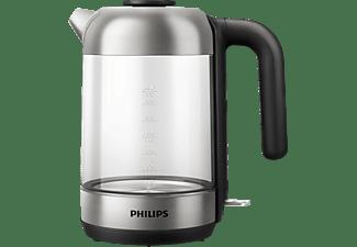 PHILIPS HD9339/80 Wasserkocher, Schwarz/Silber