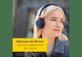 Auriculares inalámbricos - JabraElite 45h, Bluetooth 5.0, Plegables, 50 horas de batería, Azul marino