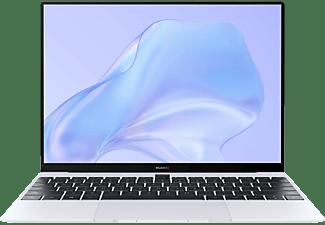 HUAWEI MateBook X, Notebook mit 13 Zoll Display Touchscreen, Core™ i5 Prozessor, 16 GB RAM, 512 GB SSD, Intel® UHD Graphics, Silver Frost