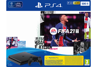 SONY Playstation 4 (Slim) 500 GB + FIFA 21 + Playstation Plus (14 dagen)