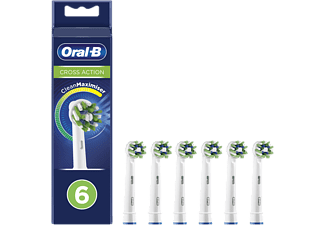 Recambio para cepillo dental - Oral-B, CrossAction, con Tecnología CleanMaximiser, Pack De6, blanco