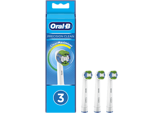 Recambio para cepillo dental - Oral-B, Precision Clean, con Tecnología CleanMaximiser, Pack De3, blanco