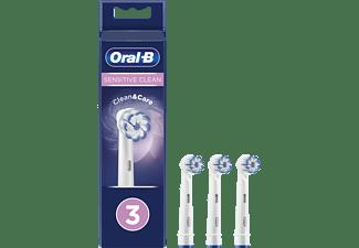 Recambio para cepillo dental - Oral-B, Sensitive Clean, Pack De3, blanco