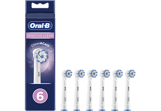 Recambio para cepillo dental - Oral-B, Sensitive Clean, Pack De6, blanco