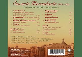 VARIOUS - MERCADANTE: CHAMBER MUSIC FOR FLUTE  - (CD)