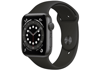 REACONDICIONADO Apple Watch Series 6, GPS, 40 mm, Caja de aluminio en gris espacial, Correa deportiva negra