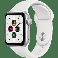 APPLE Watch SE GPS 40mm Aluminiumgehäuse Silber mit Sportarmband Weiß