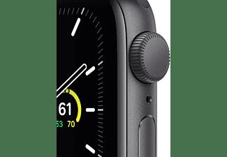 APPLE Watch SE GPS 40mm Aluminiumgehäuse Spacegrau mit Sportarmband Schwarz