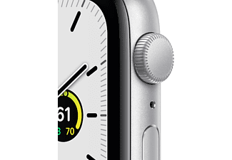 APPLE Watch SE GPS 44mm Aluminiumgehäuse Silber mit Sportarmband Weiß