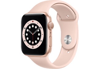 APPLE Watch Series 6 44mm goud aluminium / roze sportband