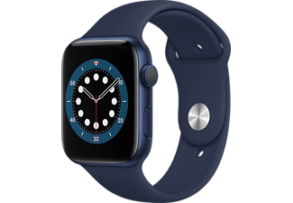 APPLE Watch Series 6 44mm blauw aluminium / blauwe sportband