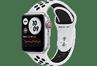 APPLE Watch Nike Series 6 GPS + Cell, 40mm Aluminiumgehäuse Silber, Nike Sportband, Pure Platinum/Schwarz