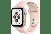 Apple Watch SE, GPS , 40 mm, Caja de aluminio en oro, Correa deportiva rosa arena