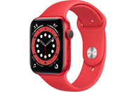 APPLE Watch Series 6 GPS, 40mm Aluminiumgehäuse PRODUCT(RED), Sportarmband, Rot