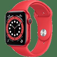 APPLE Watch Series 6 GPS, 40mm Aluminiumgehäuse PRODUCT(RED), Sportarmband, Rot