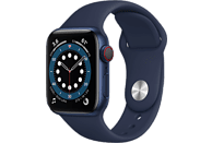 APPLE Watch Series 6 GPS + Cell, 40mm Aluminiumgehäuse Blau, Sportarmband, Dunkelmarine