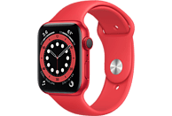 APPLE Watch Series 6 GPS + Cell, 44mm Aluminiumgehäuse PRODUCT(RED), Sportarmband, Rot