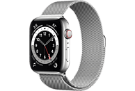 APPLE Watch Series 6 GPS + Cell, 44mm Edelstahl, Milanaisearmband, Silber