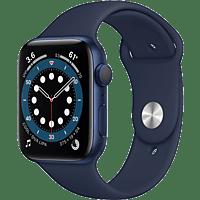 APPLE Watch Series 6 GPS, 40mm Aluminiumgehäuse Blau, Sportarmband, Dunkelmarine