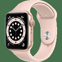 APPLE Watch Series 6 GPS, 40mm Aluminiumgehäuse Gold, Sportarmband, Sandrosa
