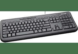 Teclado - Microsoft Wired Keyboard 600, USB, Negro