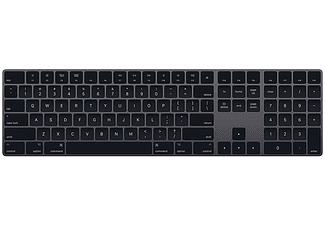 Teclado inalámbrico - Apple Magic Keyboard, con teclado numérico, Bluetooth, QWERTY Español, Gris espacial