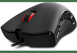 Ratón -  Ozone EXON X90, 12000 DPI, Óptico, USB, Negro