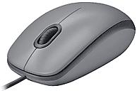 Ratón - Logitech M110, 1000 DPI, USB, Óptico, Ambidestro, con cable, Gris