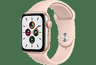 APPLE Watch SE 44mm Smartwatch Fluorelastomer , 140 -220 mm, Gold/Rosa