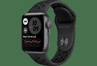 APPLE Watch SE Nike (GPS) 40mm Smartwatch Fluorelastomer, 130 - 200 mm, Space Grau/Schwarz